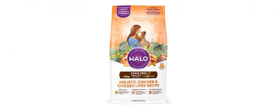halo holistic grain free cat food for weight loss