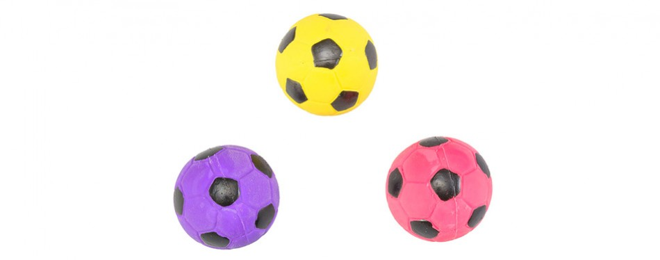 hdp spot soccer latex ball dog toy