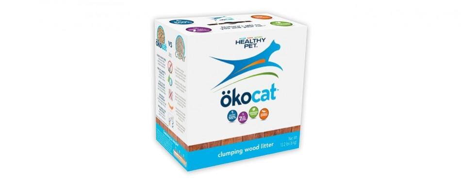 healthy pet ökocat natural wood cat litter