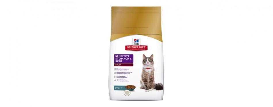 hills science sensitive stomach cat food