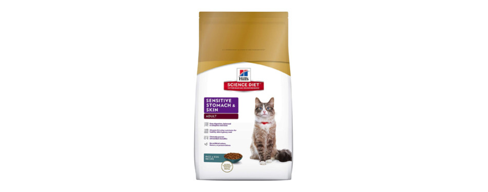 hills science sensitive stomach cat food