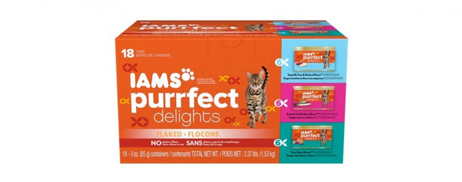 iams purrfect delights flaked wet cat food