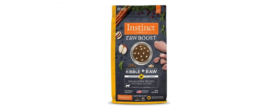 instinct raw boost grain free cat food for weight loss