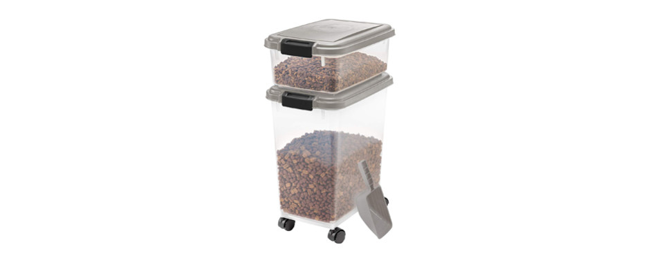 iris pet food container