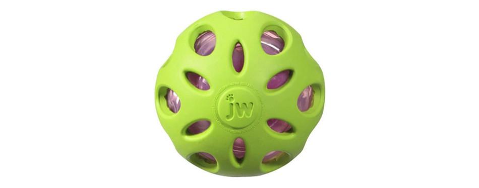 jw pet company crackle ball dog toy
