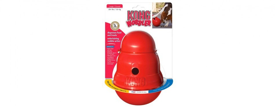 kong wobbler interactive dog toy
