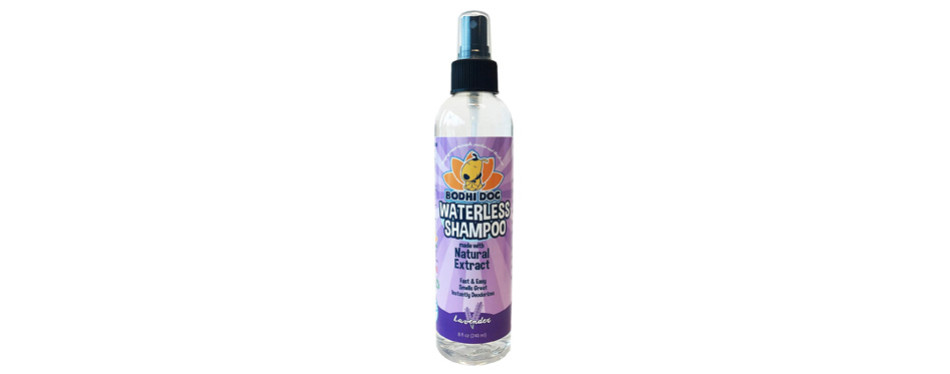 lavender waterless dry shampoo for dogs