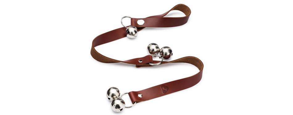 leather dog doorbell