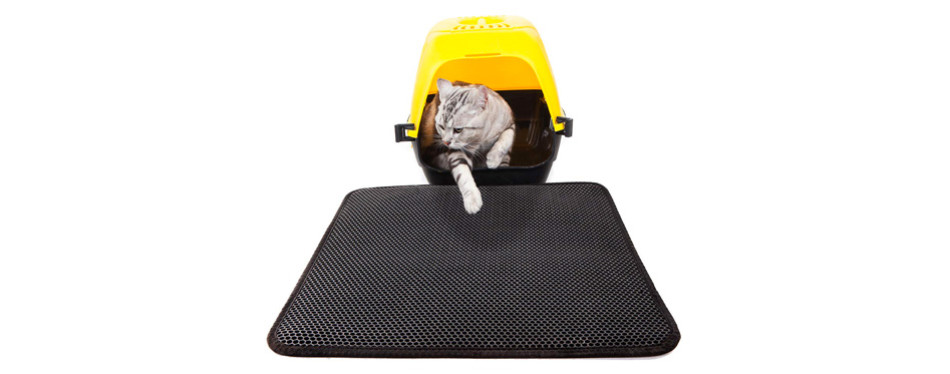 lepet cat litter mat with waterproof base layer