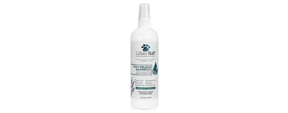 lillian ruff waterless dry shampoo for dogs