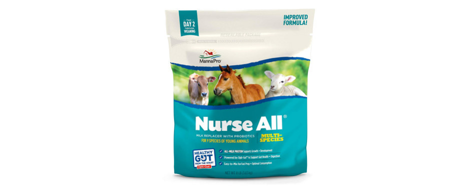 manna pro nurseall non-medicated milk replacer