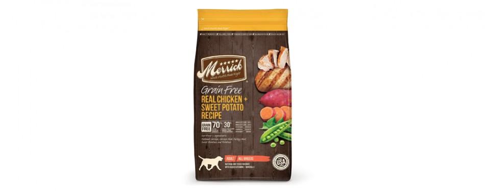 merrick high protein dog food