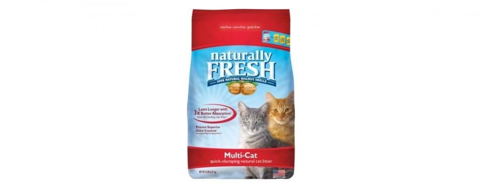naturally fresh multi-cat quick-clumping cat litter