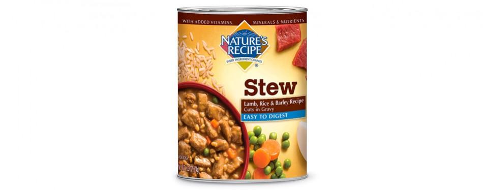 nature's recipe stew wet dog food