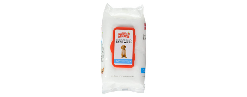nature's miracle deodorizing bath dog wipes