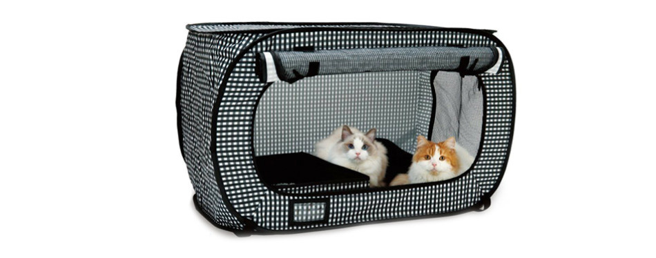 necoichi portable stress free cat carrier cage