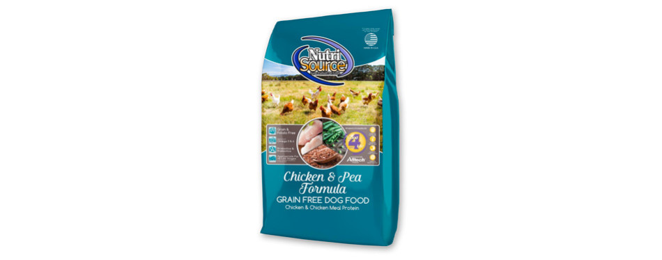 nutrisource chicken & pea grain-free dry dog food