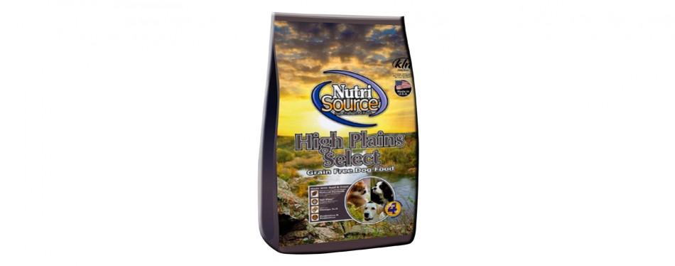 nutrisource high plains select grain-free dry dog food