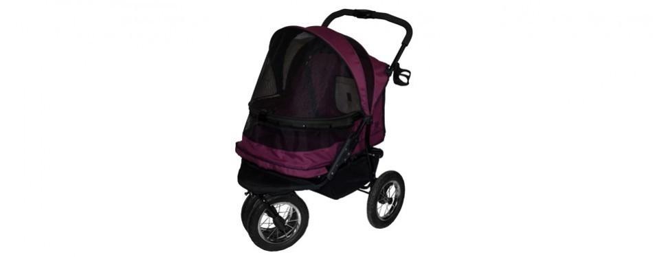 pet gear no-zip double pet dog stroller