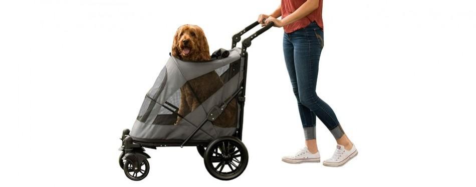 pet gear no-zip expedition dog stroller