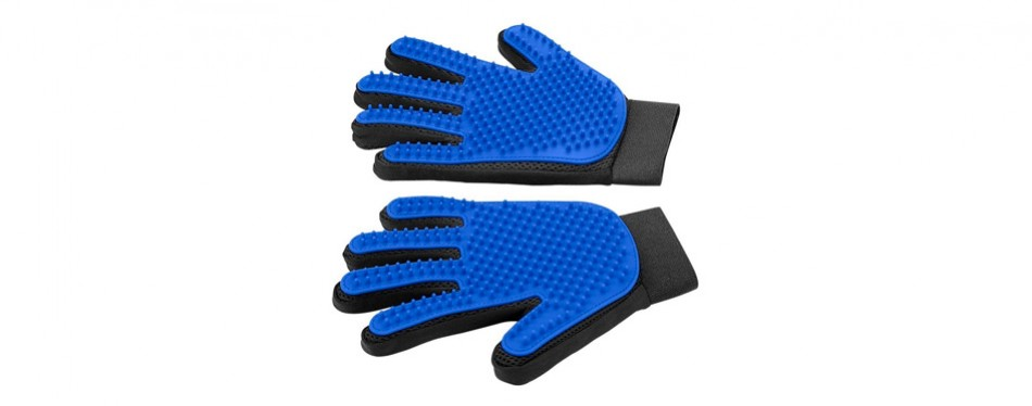 pet grooming glove gentle deshedding brush glove