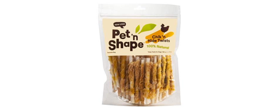 pet 'n shape chicken hide twists rawhide chews