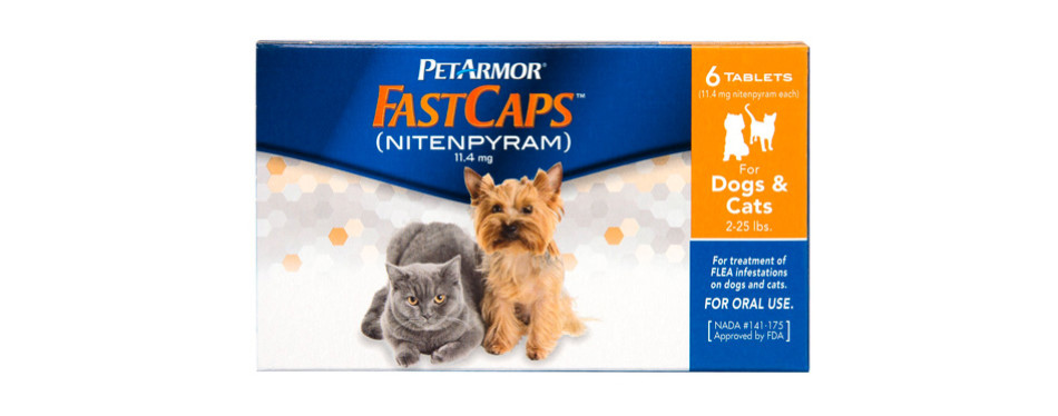 petarmor 6 count fastcaps for cats