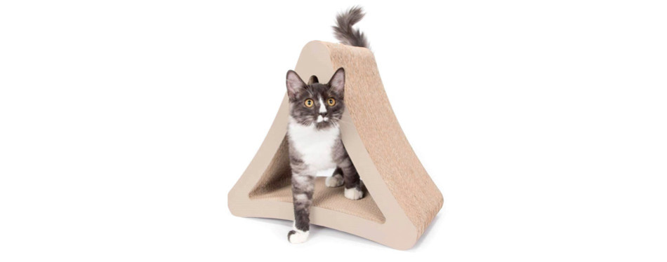 Dishes, Feeders & Fountains Wide Cat Scratching Board With Catnip Rapid Heat Dissipation Pet Supplies