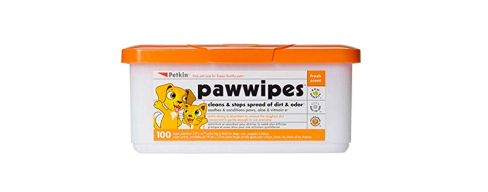 petkin dog paw wipes