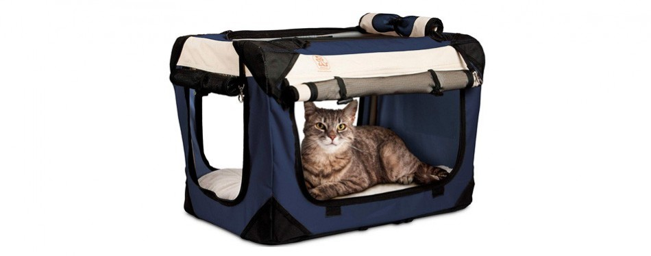 petluv happy cat carrier premium soft sided