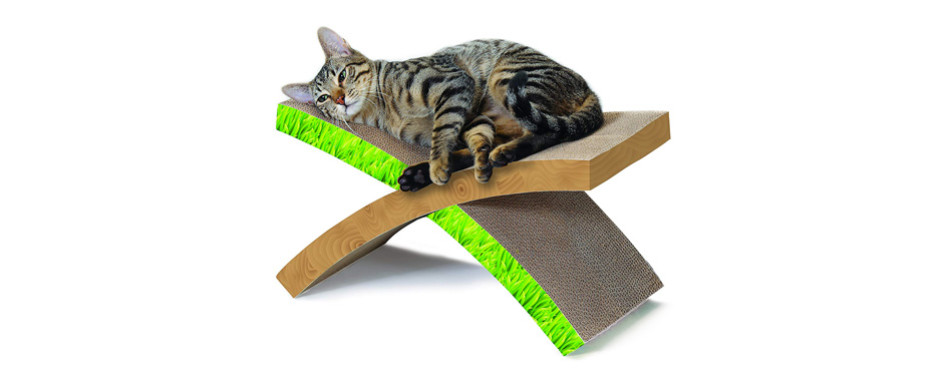 Dishes, Feeders & Fountains Wide Cat Scratching Board With Catnip Rapid Heat Dissipation