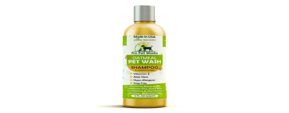 pro pet works all natural oatmeal cat shampoo