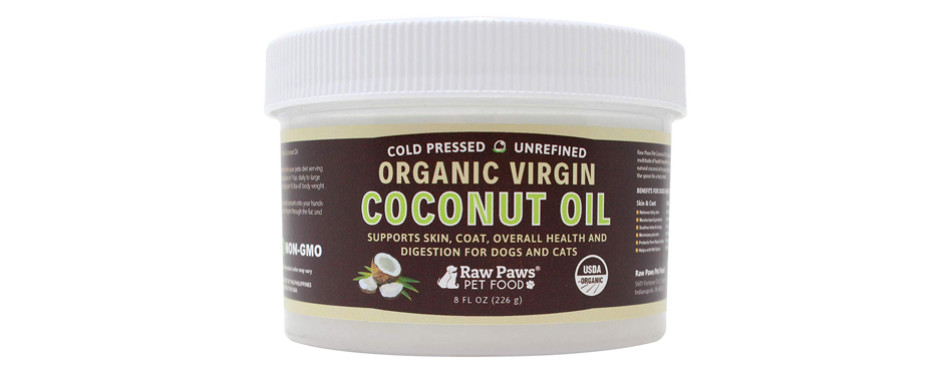 raw paws coconut oil