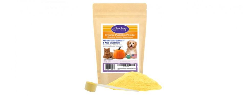 raw paws pet organic pure pumpkin high fiber cat food