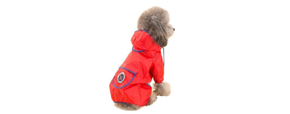 red dog raincoat