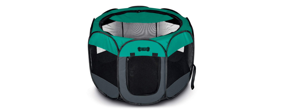 ruff 'n ruffus portable foldable pet playpen