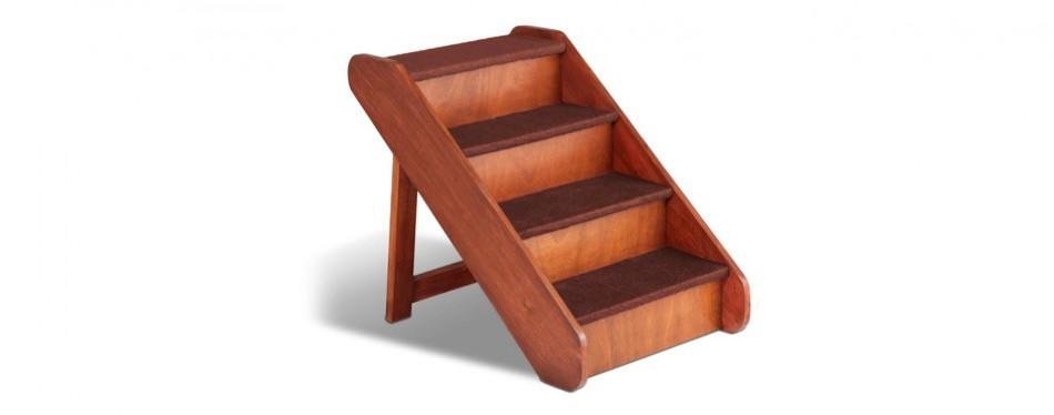 solvit pupstep large wood dog stairs
