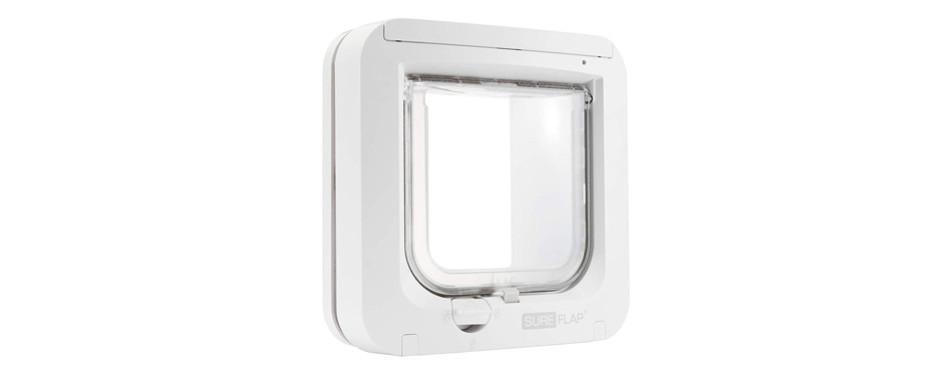 sureflap microchip cat flap in white