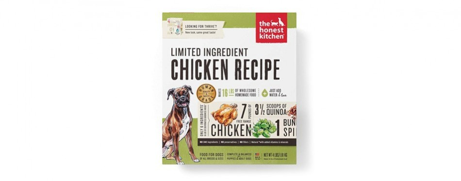 the honest kitchen dehydrated limited ingredient dog food