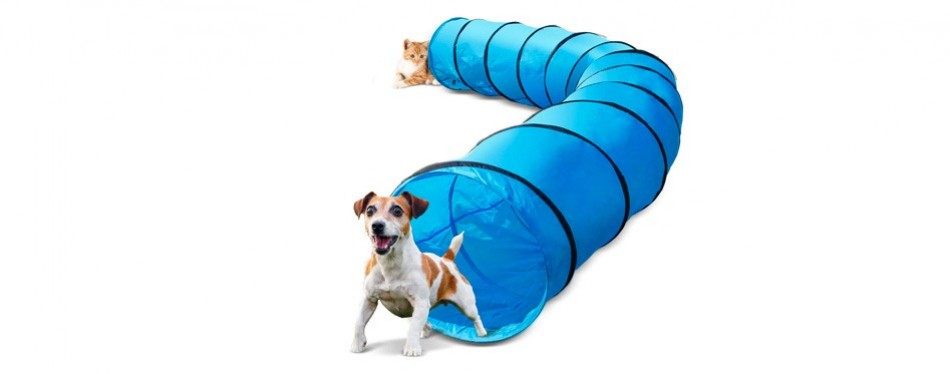 topleader pet dog agility tunnel