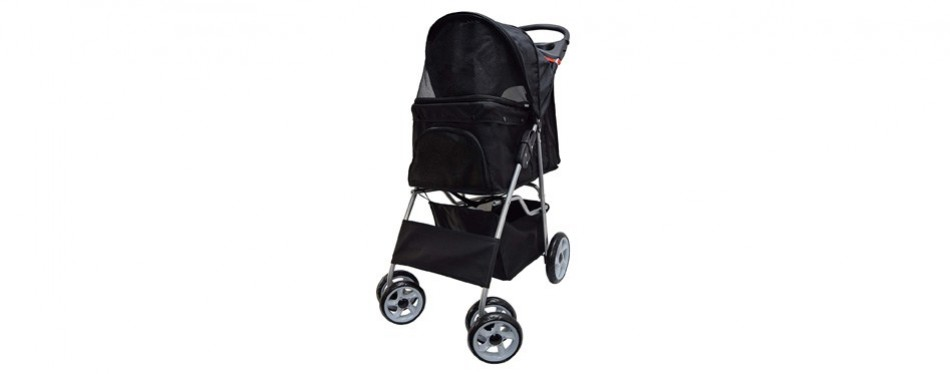 vivo four wheel pet dog stroller