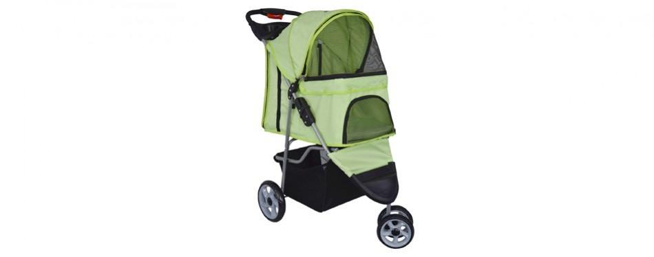 vivo three wheel pet dog stroller