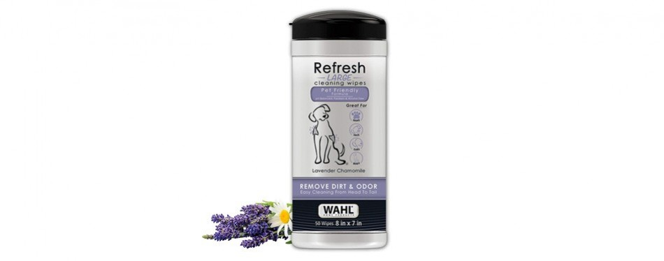 wahl dog refresh cleaning wipes