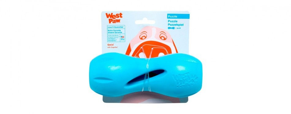 west paw zogoflex qwizl interactive dog puzzle toy